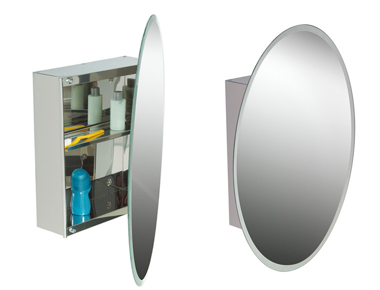 Lydia Oval Mirror With Storage
