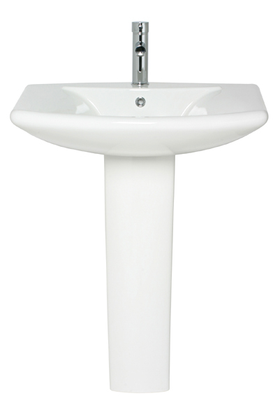 Hide those unsightly pipes with this highly attractive and superior quality wash basin and pedestal. Dimensions: 520mm depth 710mm width 880mm total height - CLICK FOR MORE INFORMATION