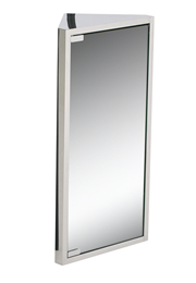 Chrome Bathroom Mirror on Into Any Bathroom Corner Cabinet With Hinged Mirror Bathroom Products