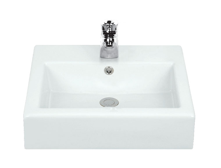 This stylish square edged basin is ideal for counter or wall mounting. Dimensions: 500mm x 410mm x 150mm - CLICK FOR MORE INFORMATION