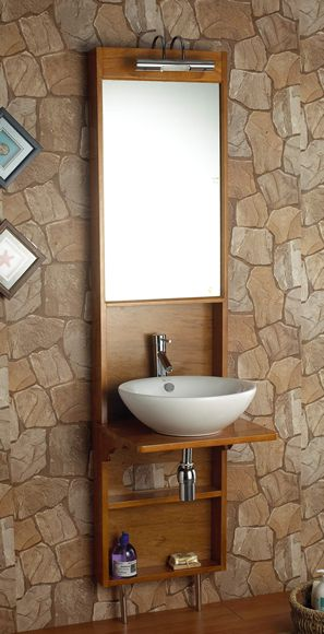 Uma Basin with stand light and mirror