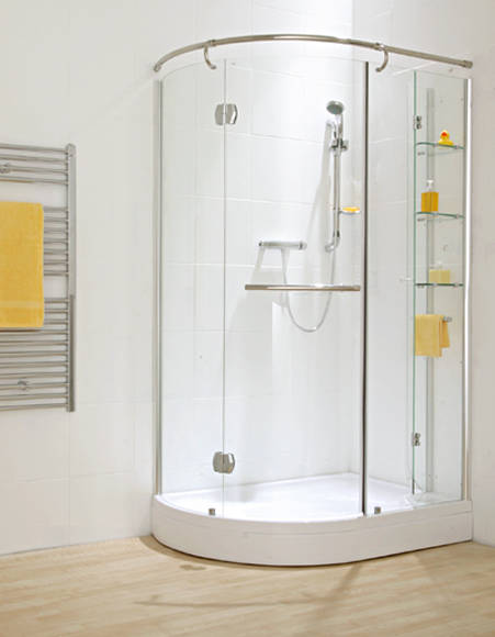 Verona Off Set Shower Enclosure With Storage