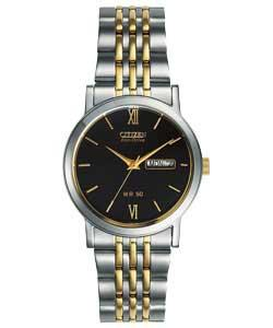 mens watches citizen gents eco drive stainless steel sports w eco drive gents two tone bracelet watch