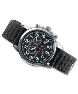 Citizen Gents Eco-Drive Military Chronograph Watch Mens Watche