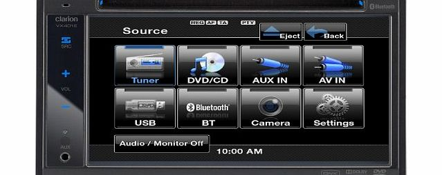 Clarion VX401E Double Din Multimedia System Built in Bluetooth USB/iPod Control product image