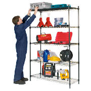 Clarke CS5000B 5 shelf boltless wire shelving product image