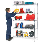 Clarke CS5000C 5 shelf boltless wire shelving product image