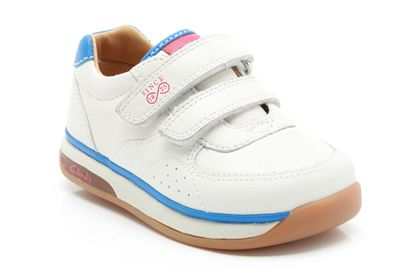 Clarks Compo Fst White Leather