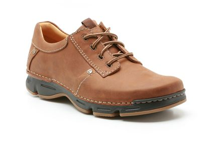 Clarks Rico Step Mahogany Leather