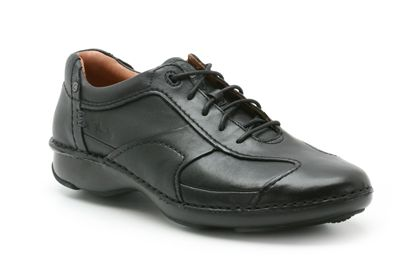 Clarks Rush Air Black Leather
