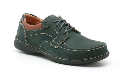 Clarks Summer Light Navy/Brown Leather