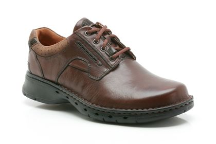 Clarks Un Ravel Brown Leather