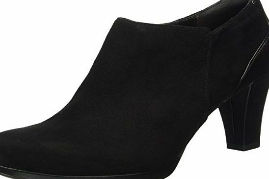 Clarks Womens Chorus True Ankle Boots, Black (Black Suede), 6 UK