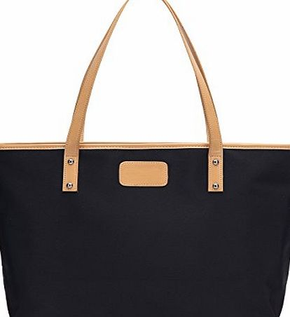 Cleaks Women Designer Bags Ladies Large Shopper Bag Nylon Oxford Shoulder Tote Bag Black