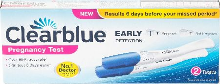 Clearblue, 2102[^]0139484 Early Detection Visual Pregnancy Test