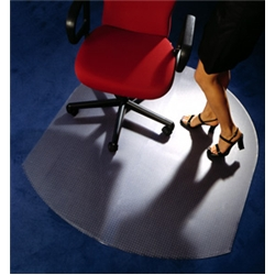 Cleartex Chairmat Contoured for Carpet 990mm