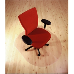 Cleartex Chairmat Contoured for Hard Floor 990mm