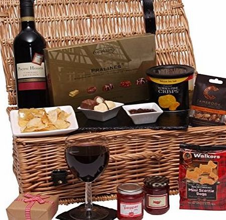 Clearwater Hampers The Luxury Gift Hamper - Food Hampers amp; Gourmet Gift Baskets - Food and Wine Hamper - Packed in a Large 17`` Traditional Wicker Basket