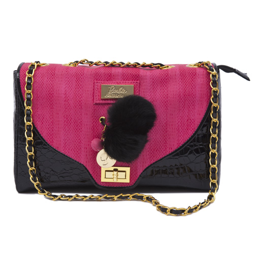 Hot Pink and Black Barbie Handbag from Clippy