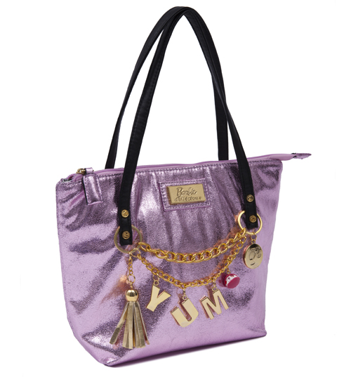 Pink Barbie Shopper Bag with Charms from Clippy