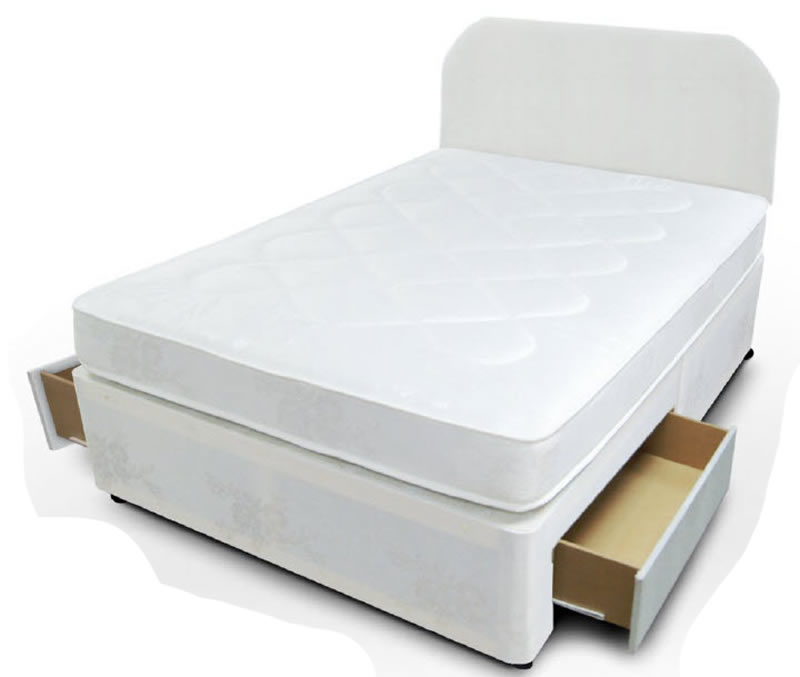 Cloud divan beds for Divan bed with 2 drawers
