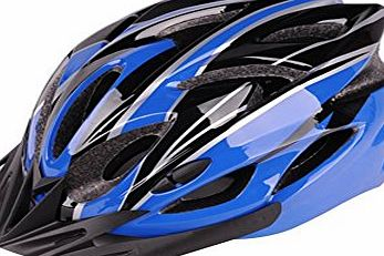 Cloudwal Mens Womens H-012 EPS/PU Foam Inside Material Bicycle Cycling Ultralight Road Mountain Bike Helmet 52-60CM Size Blue/Grey