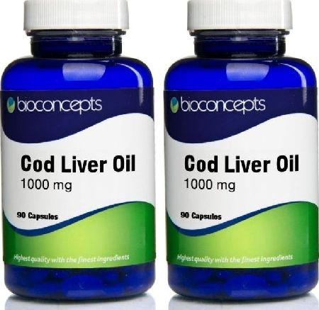 Cod Liver Oil, 2102[^]0070217 Soft Gels 1000mg - Twin Pack