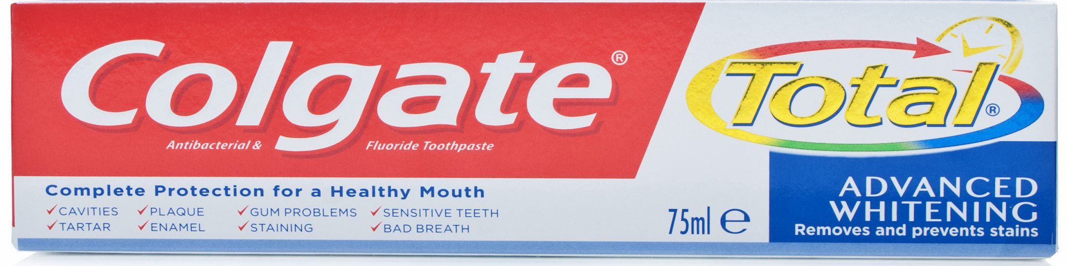 essay on colgate total toothpaste The colgate total toothpaste website states the following: colgate total® is the only toothpaste on the market that has undergone the us food and drug administration's rigorous new drug.