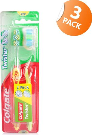 Colgate, 2102[^]0105466 Twister Toothbrush Duo - Twin Pack