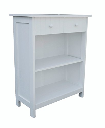White bathroom floor cabinet with drawers for White bathroom chest