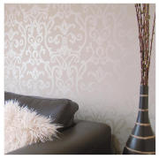 Cream Ornamental Wallpaper