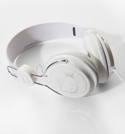 Coloud Hello Kitty White and Silver Headphones from product image