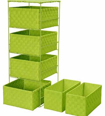 4 + 2 Drawer Storage Baskets - Apple
