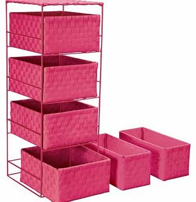 4 + 2 Drawer Storage Baskets - Funky