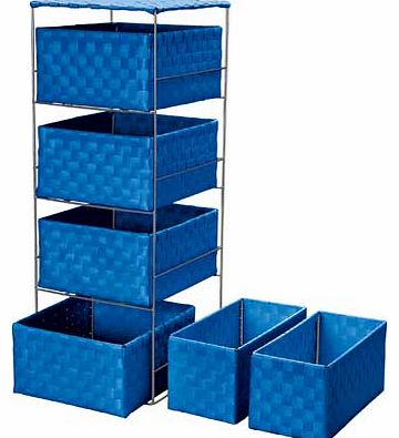 4 + 2 Storage Baskets - Marina Blue