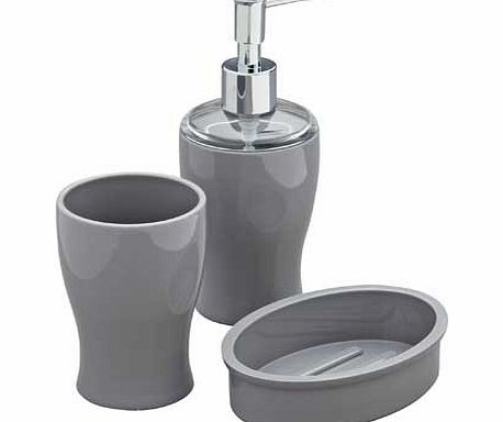 Colourmatch bathroom accessories set smoke grey review for Grey bathroom accessories set