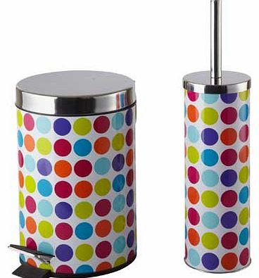 Toilet brush holders for Bathroom bin and brush set