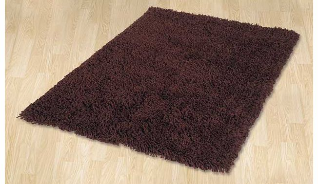 ColourMatch Shaggy Rug 170x110cm - Chocolate