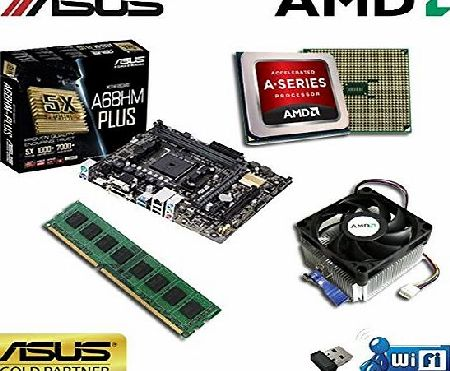 Computer Technology ASUS Powered Gaming Upgrade Bundle - Processing via an AMD multicore A4 4000 CPU using the Performance ASUS A68HM Plus Motherboard - 8GB DDR3 Memory