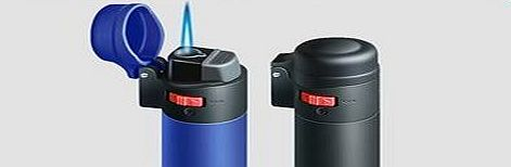 Coney Black Rubber Coney Lighter With Flame Lock, Windpro