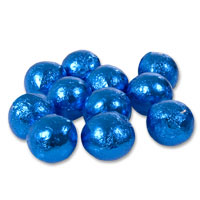 Electric blue chocolate balls - bulk bag