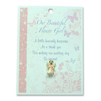 Confetti Flower girl angel pin