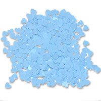 Matt blue heart confetti 28g