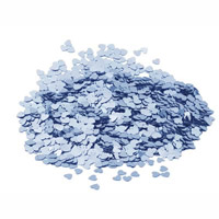 Pale blue heart metallic confetti