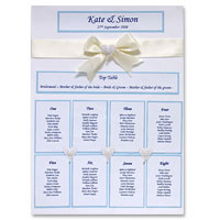 White/blue table planner kit
