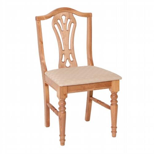 Country Pine Upholstered Dining Chair x2
