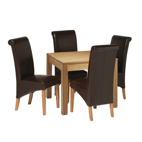 contemporary oak oak tables : contemporary oak 90cm dining table with 4 bonded from www.comparestoreprices.co.uk size 500 x 500 jpeg 66kB