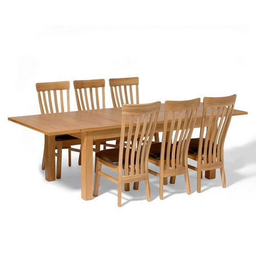 classic dining room sets : contemporary oak large dining set with 6 classic from www.comparestoreprices.co.uk size 500 x 500 jpeg 32kB