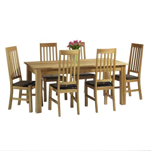Modern oak dining chairs chair pads cushions for Modern oak dining room sets