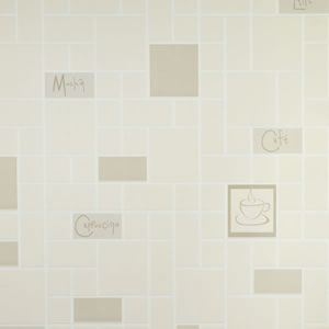 Contour Cafe Culture Wallpaper Beige 15172 product image